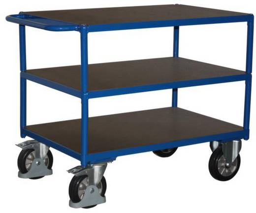Tischwagen Stahl pulverbeschichtet Traglast (max.): 1000 kg Enzianblau (RAL 5010) VARIOfit SW-700.617