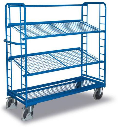 VARIOfit SW-640.225 Etagenwagen Stahl pulverbeschichtet Traglast (max.): 400 kg Enzianblau (RAL 5010)