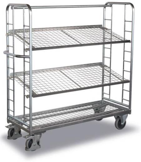 Etagenwagen Stahl pulverbeschichtet Traglast (max.): 400 kg Verzinkt VARIOfit SW-640.226