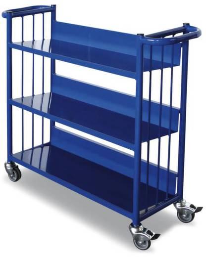 Aktenwagen Stahl pulverbeschichtet Traglast (max.): 150 kg Enzianblau (RAL 5010) VARIOfit SW-300.000