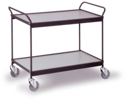 0302S Etagenwagen Stahl pulverbeschichtet Traglast (max.): 150 kg Tiefschwarz (RAL 9005)