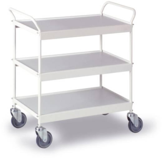 Etagenwagen Stahl pulverbeschichtet Traglast (max.): 150 kg Reinweiß (RAL 9010) 0210W