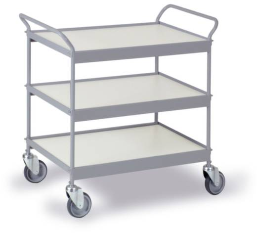 Etagenwagen Stahl pulverbeschichtet Traglast (max.): 150 kg Silbergrau (RAL 7001) 0310G