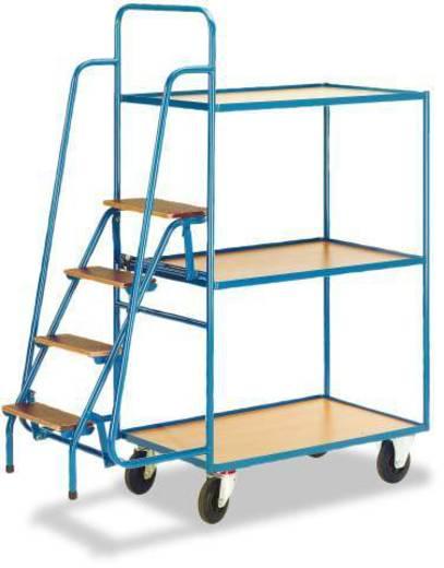 Kommissionierwagen Stahl pulverbeschichtet Traglast (max.): 250 kg Enzianblau (RAL 5010) ROLLCART AUG 73