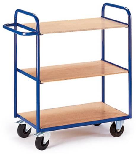 Etagenwagen Stahl pulverbeschichtet Traglast (max.): 150 kg Enzianblau (RAL 5010) AUG 12