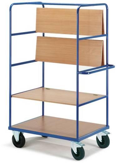 Etagenwagen klappbar Stahl pulverbeschichtet Traglast (max.): 500 kg Enzianblau (RAL 5010) ROLLCART AUG 08