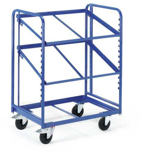 Etagenwagen Stahl pulverbeschichtet Traglast (max.): 200 kg Enzianblau (RAL 5010) ROLLCART 16-4333