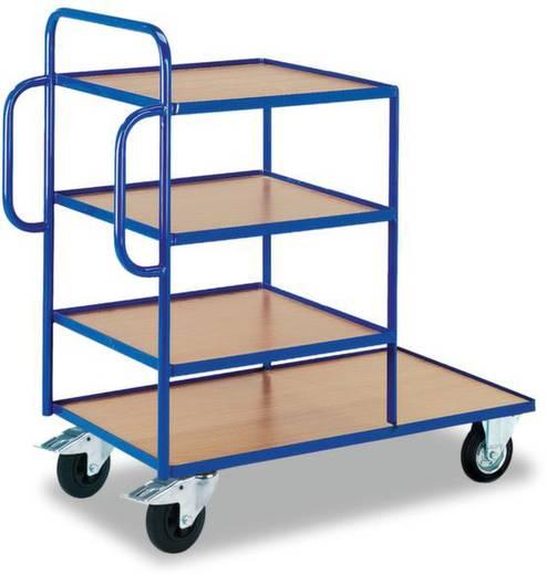 Beistellwagen Stahl pulverbeschichtet Traglast (max.): 250 kg Enzianblau (RAL 5010) ROLLCART AUG 30