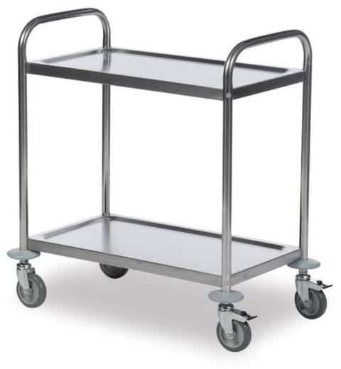 62-3200 Etagenwagen Edelstahl Traglast (max.): 100 kg Edelstahl