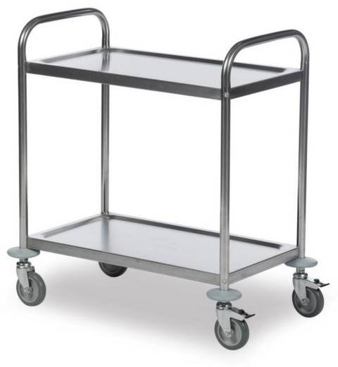 Etagenwagen Edelstahl Traglast (max.): 100 kg Edelstahl 62-3200