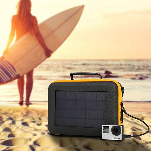 SunnyBag Action Case 141A_01 Solar-Ladegerät Ladestrom Solarzelle 600 mA 3.15 W Kapazität (mAh, Ah) 2200 mAh