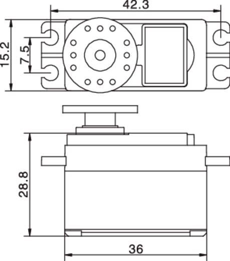 Reely Midi-Servo S-9650 Analog-Servo Getriebe-Material: Kunststoff Stecksystem: JR