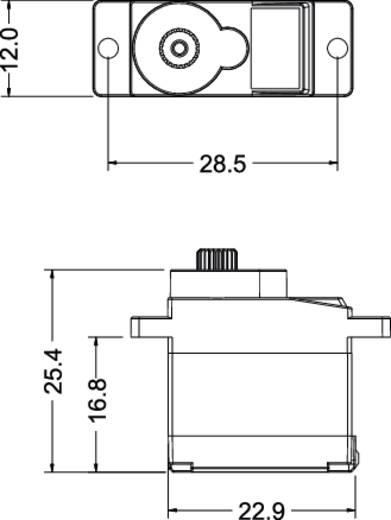 Reely Mini-Servo DS-8220 TG Digital-Servo Getriebe-Material: Titanium Stecksystem: JR