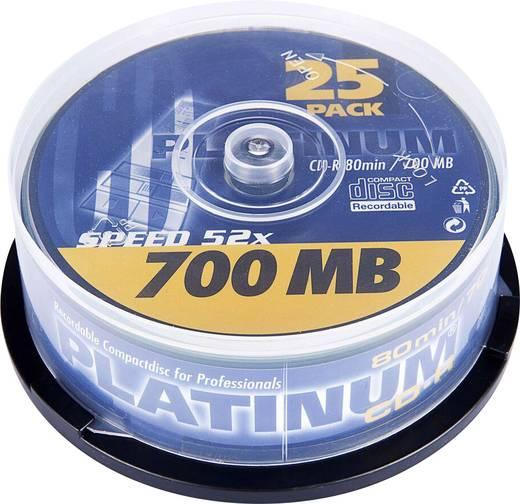 CD-R 80 Rohling 700 MB Platinum 102565 25 St. Spindel