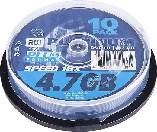 DVD+R Rohling 4.7 GB Platinum 102568 10 St. Spindel