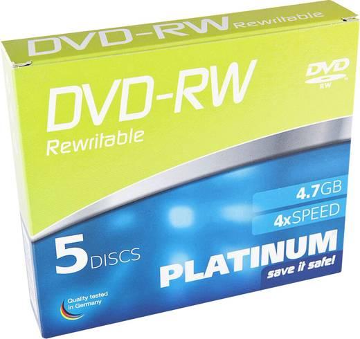 DVD-RW Rohling 4.7 GB Platinum 102570 5 St. Slimcase Wiederbeschreibbar