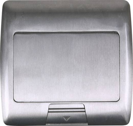 Heitronic 40462 2fach Fußboden-Einbausteckdose IP20 Silber