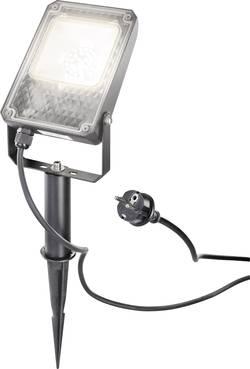 Projecteur de jardin LED LED intégrée 10 W Esotec UNI 105217 blanc chaud noir