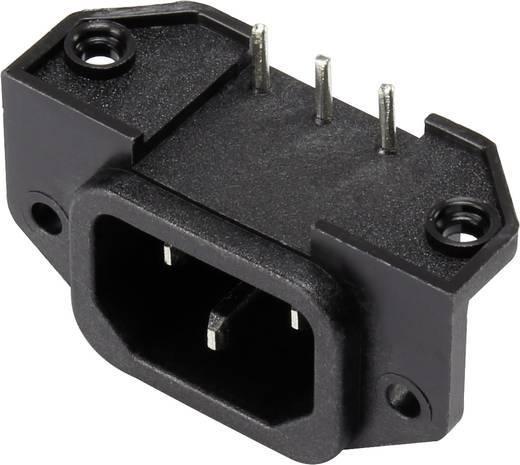 Kaltgeräte-Steckverbinder Stecker, Einbau horizontal Gesamtpolzahl: 2 + PE 15 A Schwarz 1 St.
