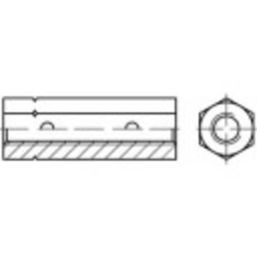 Sechskantspannschlossmutter M8 Stahl galvanisch verzinkt TOOLCRAFT 136577 DIN 1479 25 St.