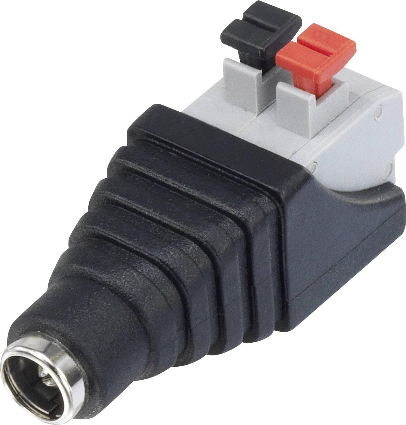 Conrad Components Niedervolt-Adapter Niedervolt-Stecker USB 2.0 Buchse A 5 mm 2.1 mm 1 St.