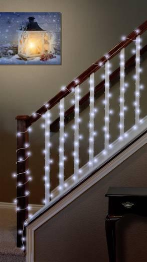 Polarlite LLC-08-001 Micro-Lichterkette Innen netzbetrieben 80 LED Warm-Weiß, Kalt-Weiß Beleuchtete Länge: 7.9 m