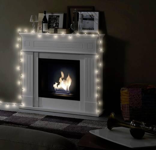 Polarlite LLC-08-003 Micro-Lichterkette Innen netzbetrieben 40 LED Warm-Weiß, Kalt-Weiß Beleuchtete Länge: 3.9 m