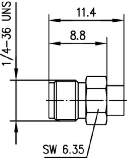 SMA-Steckverbinder Buchse, gerade 50 Ω Telegärtner J01151A1181 1 St.
