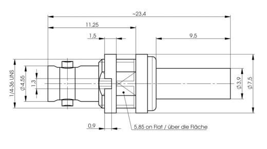 BNC-Steckverbinder Buchse, Einbau 75 Ω Telegärtner J01291A0021 1 St.