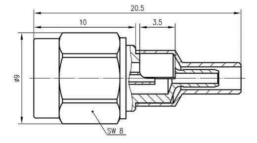 SMA-Steckverbinder Stecker, gerade 50 Ω Telegärtner J01150A0601 1 St.