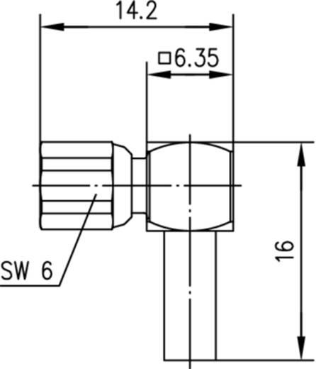 SMC-Steckverbinder Buchse, gewinkelt 50 Ω Telegärtner J01171A0181 1 St.