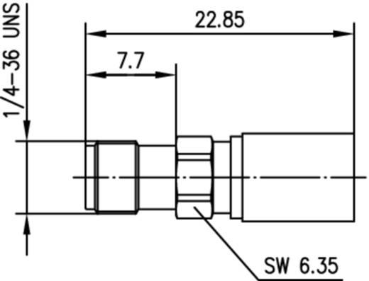 SMA-Steckverbinder Buchse, gerade 50 Ω Telegärtner J01151A1061 1 St.