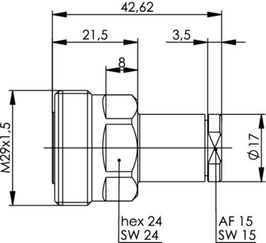 7-16-DIN-Steckverbinder Buchse, gerade 50 Ω Telegärtner J01121A0177 1 St.