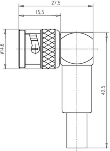 BNC-Steckverbinder Stecker, gewinkelt 75 Ω Telegärtner J01002A1266 1 St.