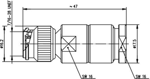TNC-Steckverbinder Stecker, gerade 50 Ω Telegärtner J01010A2940 1 St.