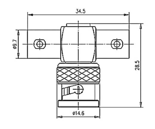 BNC-Adapter BNC-Stecker - BNC-Buchse, BNC-Buchse Telegärtner 1 St.