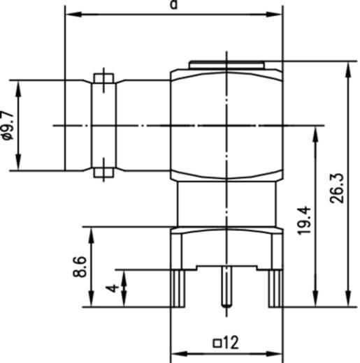 BNC-Steckverbinder Buchse, Einbau horizontal 50 Ω Telegärtner J01001A0064 1 St.