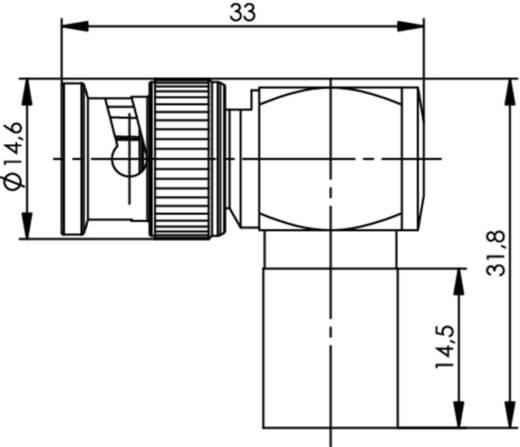 BNC-Steckverbinder Stecker, gewinkelt 50 Ω Telegärtner J01000A0064 1 St.