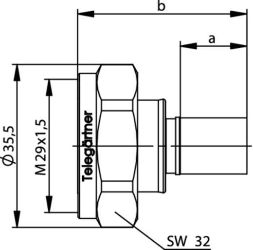 7-16-DIN-Steckverbinder Stecker, gerade 50 Ω Telegärtner J01120B0091 1 St.