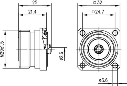 7-16-DIN-Steckverbinder Buchse, Einbau 50 Ω Telegärtner J01121C0721 1 St.