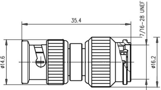 Koax-Adapter BNC-Stecker - TNC-Stecker Telegärtner J01008A0011 1 St.