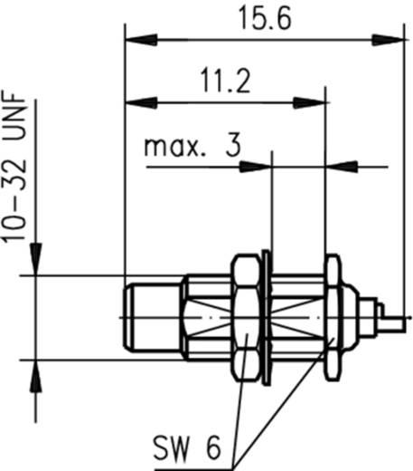 SMC-Steckverbinder Stecker, Einbau 50 Ω Telegärtner J01170A0011 1 St.