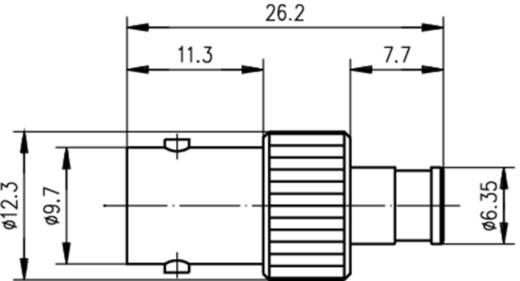Koax-Adapter BNC-Buchse - SMB-Buchse Telegärtner J01008F0013 1 St.