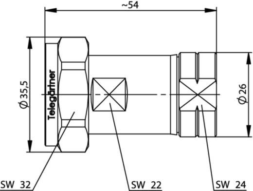 7-16-DIN-Steckverbinder Stecker, gerade 50 Ω Telegärtner J01120B0073 1 St.