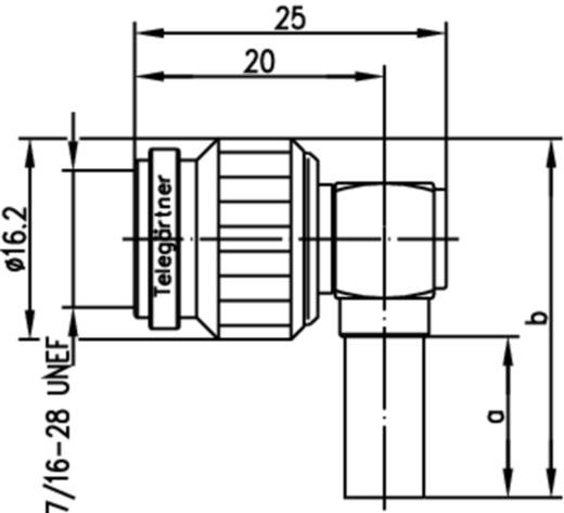TNC-Steckverbinder Stecker, gewinkelt 50 Ω Telegärtner J01010A0048 1 St.