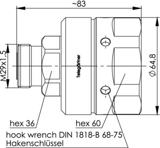 7-16-DIN-Steckverbinder Buchse, gerade 50 Ω Telegärtner J01121H0139 1 St.