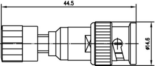 Messadapter BNC-Stecker - Buchse 4 mm Telegärtner J01008A0625 Rot, Silber