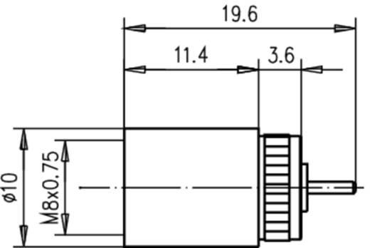FME-Steckverbinder Stecker, gerade 50 Ω Telegärtner F01700A0000 1 St.