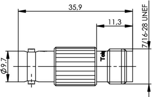 Koax-Adapter BNC-Buchse - TNC-Buchse Telegärtner J01008A0012 1 St.
