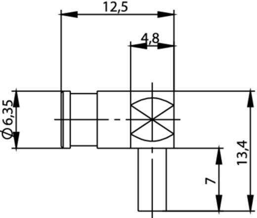 SMB-Steckverbinder Buchse, gewinkelt 50 Ω Telegärtner J01161A0091 1 St.